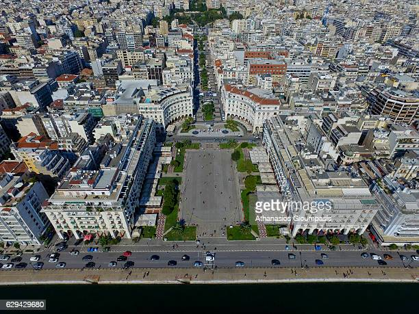 Aerial view of Aristotelous Square one of most recognizable areas on September 22 2016 in Thessaloniki Greece one of Thessaloniki's most recognizable...