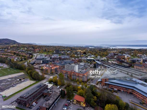 Aerial view of Asker, Norway