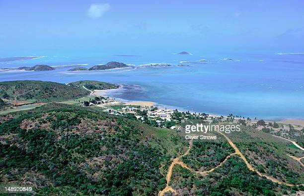 Aerial view of Bamaga, the largest Islander community on the northern Cape, Cape York Peninsula