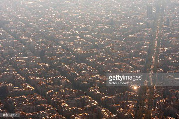 Aerial view of Barcelona eixample
