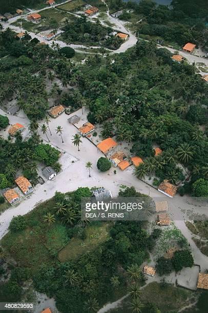 Aerial view of Barreirinhas in Lencois Maranhenses National Park State of Maranhao Brazil