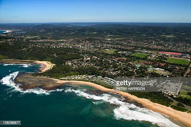 Aerial view of Bateau Bay, New South Wales, Australia
