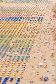Aerial View of beach ressorts at Rimini