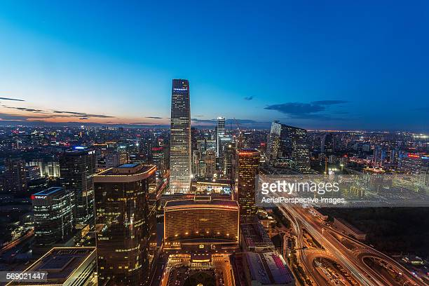 Aerial view of Beijing international trade center