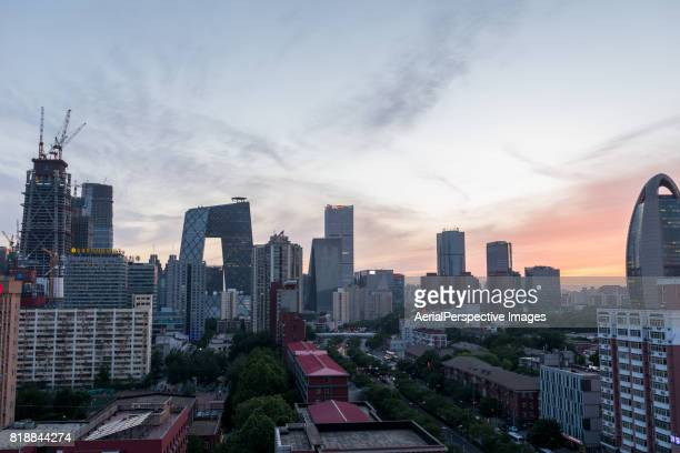 Aerial View of Beijing Skyline, Day