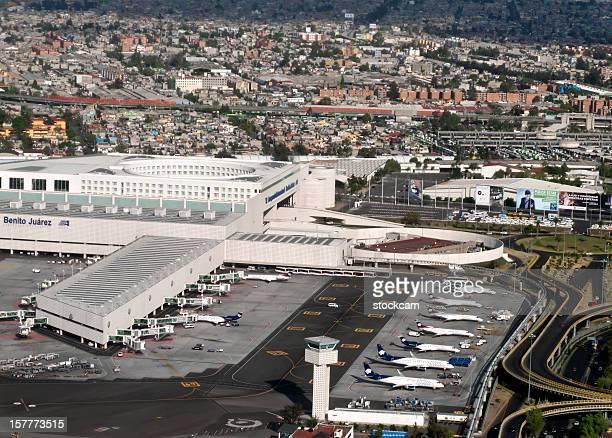 Aerial view of Benito Juarez Airport, Mexico City