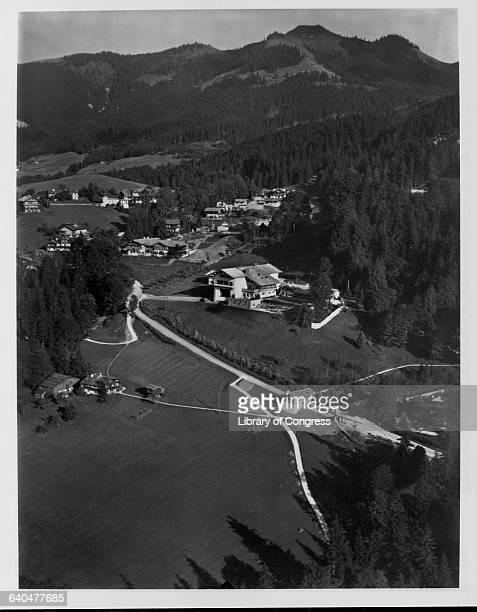 Aerial view of Berghof Hitler's chalet near Berchtesgaden | Location Obersalzberg Germany