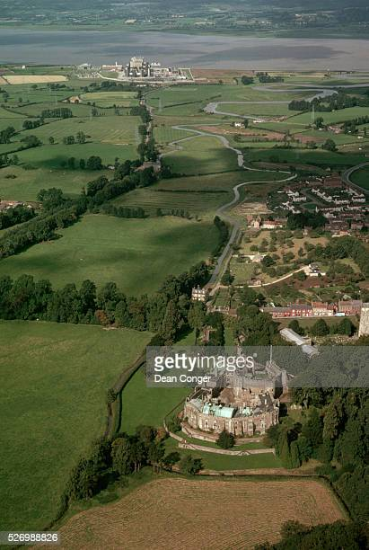 Aerial View of Berkeley Castle and Countryside