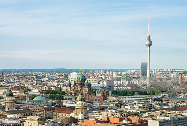 Aerial View of Berlin Cityscape