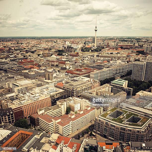 Luftbild von Berlin Alexanderplatz-Fernsehturm-Deutschland