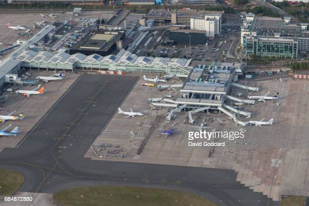 BIRMINGHAM ENGLAND AUGUST 16 Aerial view of Birmingham airport Located six miles east of Birmingham city centre and one mile north of Solihull lies...