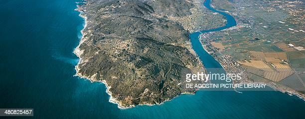 Aerial view of Bocca di Magra Province of La Spezia Liguria Region Italy