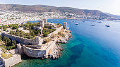Aerial view of Bodrum on Turkish Riviera.