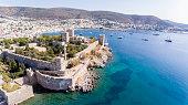 Aerial view of Bodrum on Turkish Riviera.