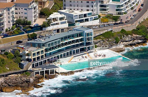 Aerial view of Bondi Icebergs, NSW, Australia