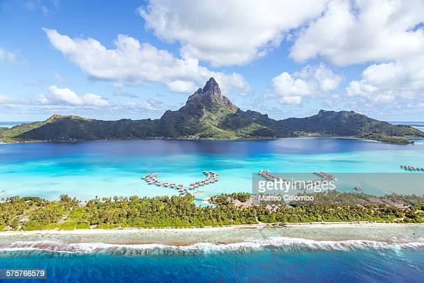 Aerial view of Bora Bora island, French Polynesia