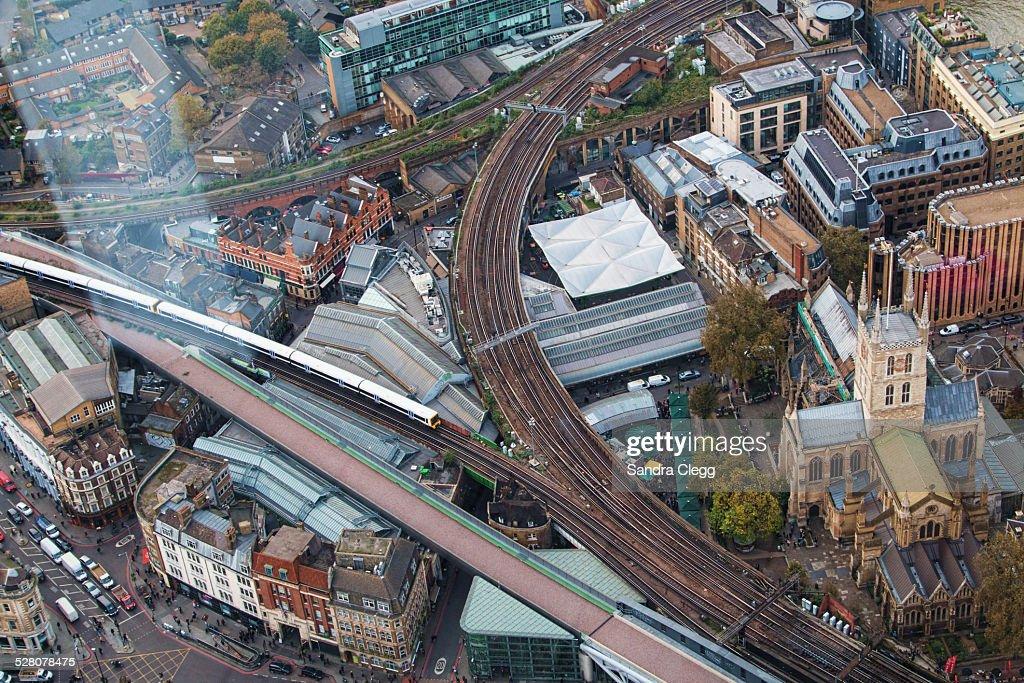 Aerial view of Borough Market, London