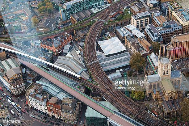 Aerial view of Borough Market, London