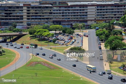 Aerial view of Brasilia : Stock Photo