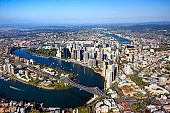Aerial view of Brisbane, Queensland, Australia