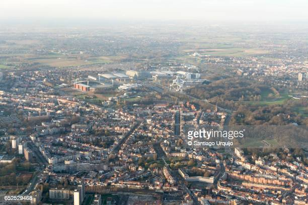 Aerial view of Brussels