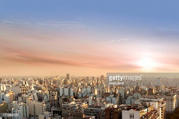 Aerial View of Buenos Aires Argentina from Palacio Barolo
