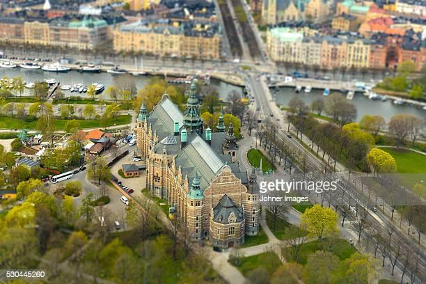 Aerial view of building in Stockholm