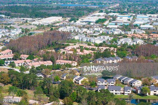 Aerial view of buildings in a city, Orlando, Florida, USA : Stock Photo