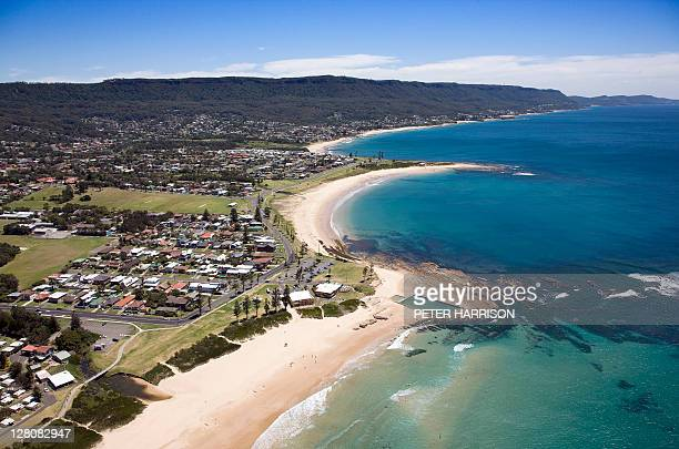 Aerial view of Bulli Beach, New South Wales, Australia