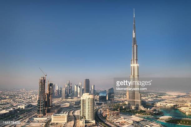 Aerial view of Burj Khalifa