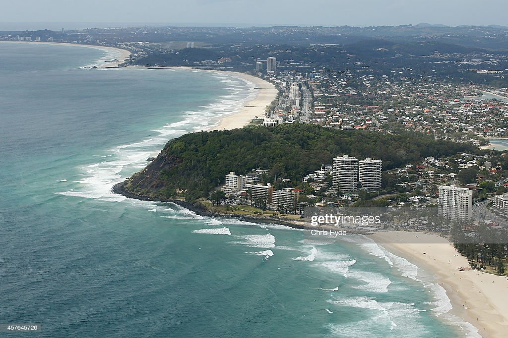 Aerial view of Burleigh Heads on October 22 2014 on the Gold Coast Australia