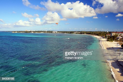 Aerial View of Cable Beach - Nassau, Bahamas