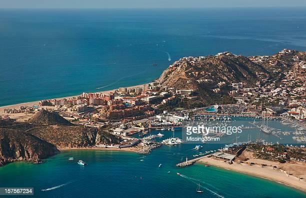 Vista aérea de Cabo San Lucas & Marina bahía