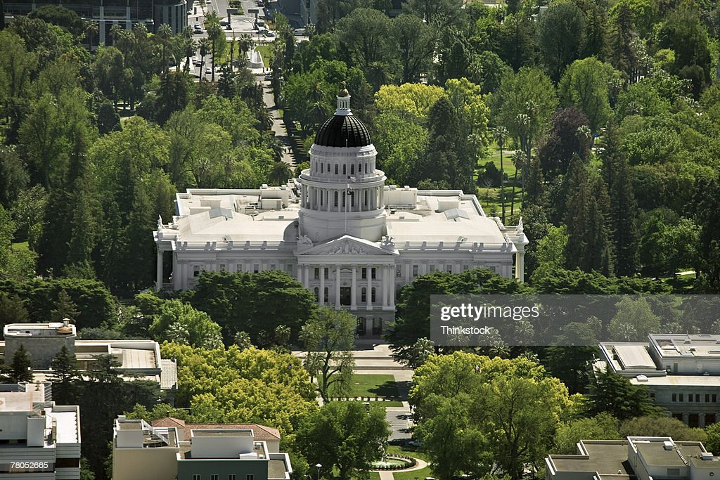 Aerial view of California State Capitol Building