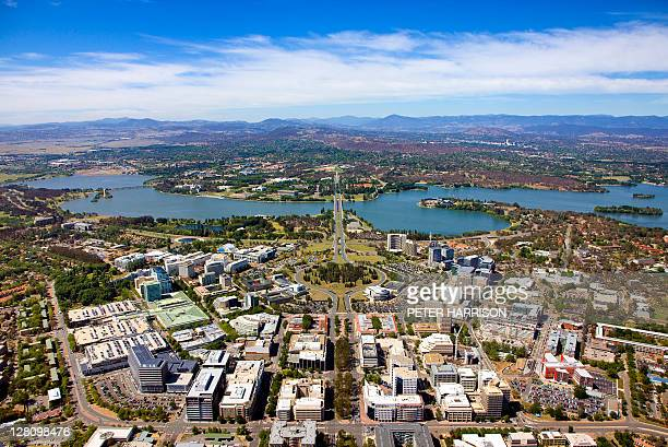 Aerial view of Canberra, Australia