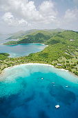 Aerial View of Caneel Bay and St. John