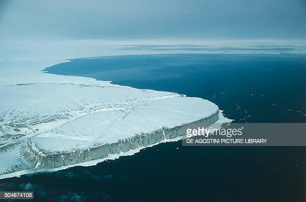 Aerial view of Cape Clarence Somerset Island Canadian Arctic Archipelago Canada