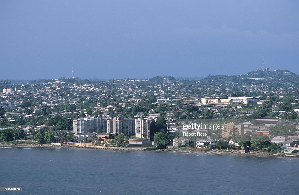 Aerial View of Capital City Libreville & Coastline