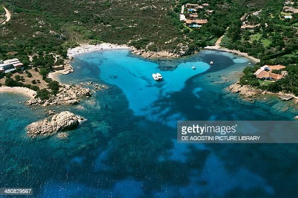 Aerial view of Capo Capaccia Costa Smeralda Province of OlbiaTempio Sardinia Region Italy