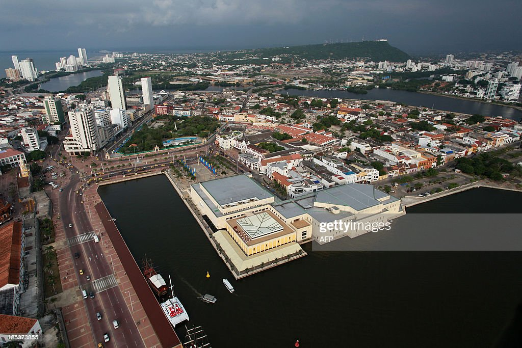 Aerial view of Cartagena, Colombia on October 19, 2013. Cartagena will host the 82nd Interpol General Assembly between October 21 and 24. AFP PHOTO/Joaquin SARMIENTO