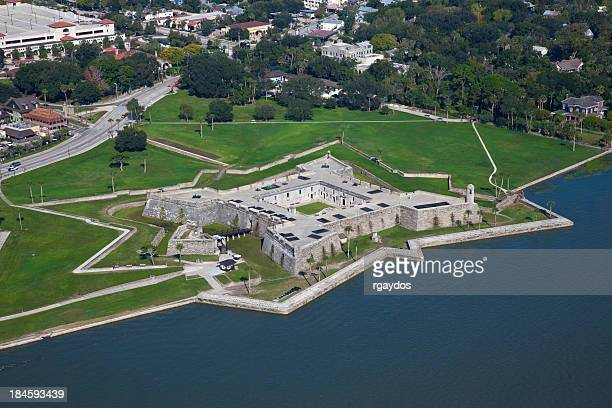 Aerial View of Castillo de Marcos, St Augustine, Florida