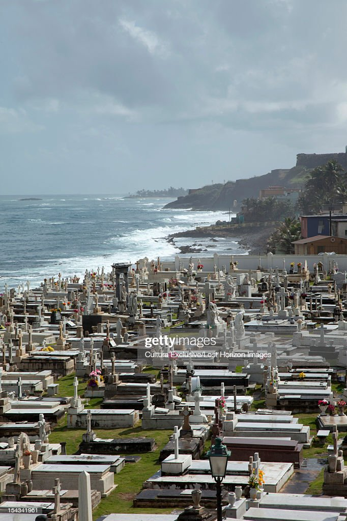 Aerial view of cemetery : Stock Photo