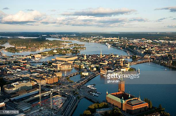 Aerial view of central Stockholm