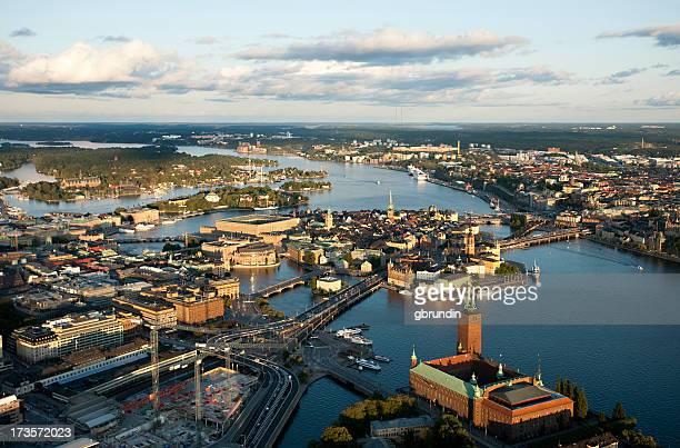 El centro de la ciudad de Estocolmo.