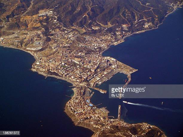 Aerial view of Ceuta