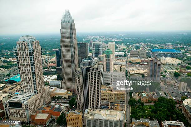 Aerial view of Charlotte