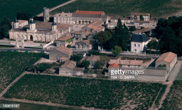 Aerial View of Chateau de MoutonRothschild France