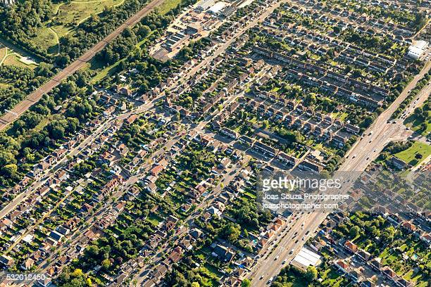 Aerial View of Chelmsford suburbs.
