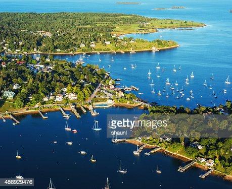 Aerial View of Chester Nova Scotia