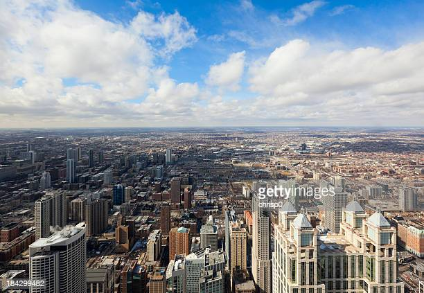 Aerial View of Chicago Looking West